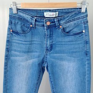 K's more Mid Rise Cropped Flare Blue Wash Size 3